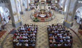 Vierzehnheiligen – immer wieder mal Station der OrgelFahrt mit Matthias Grünert. Immer volles Haus.